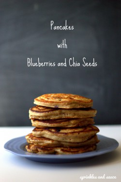 Pancakes with Blueberries and Chia Seeds Recipe