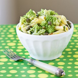 Pasta Salad with Romanesco Capers Saffron