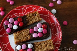 Peanut Butter Chocolate Dipped Blondies Recipe