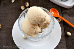 Peanut Butter Ice Cream with Homemade Chocolate Syrup Recipe