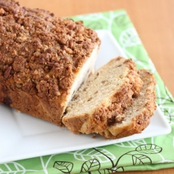 Pecan ice cream bread