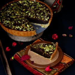 Pistachio Brownie Tart