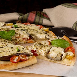 Pizza with Eggplant and Provolone