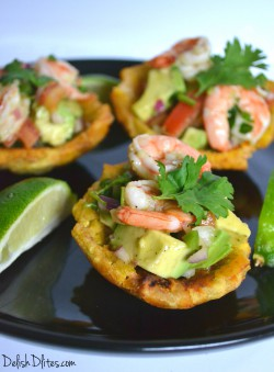 Plantain Cups with Shrimp