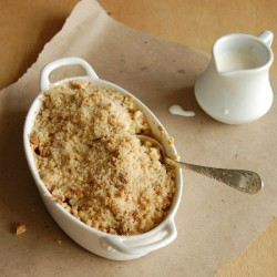 Plum and amaretti crumble