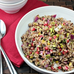 Pomegranate Wild Rice PIlaf
