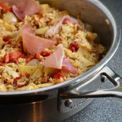 Prosciutto Artichoke and Sun-Dried Tomato Rice
