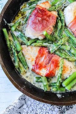 Prosciutto Wrapped Chicken with Asparagus Recipe