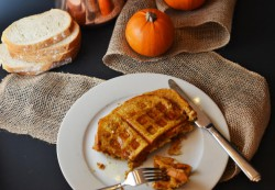Pumpkin French Toast Waffles