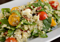 Quinoa Salad with Feta and Bacon