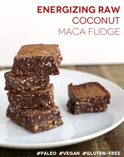 Raw Coconut Maca Fudge Recipe