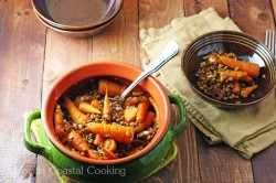 Roasted Carrots with Lentils