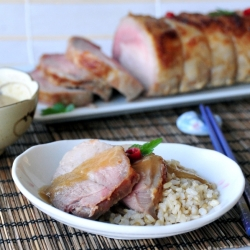 Roasted Pork Loin with Miso Glaze