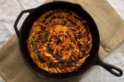 Roasted Sweet Potato Carpaccio with Chilies and Thyme Recipe