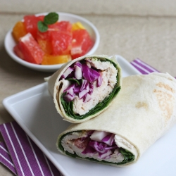 Roasted Turkey Wrap with Red Grapefruit Dressing Recipe