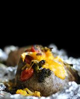 Roasted Vegetables Stuffed Baked potatoes Recipe