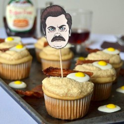 Ron Swanson Inspired Cupcakes