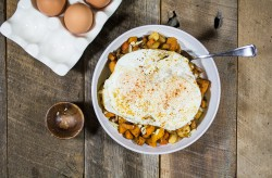 Root Vegetable Hash with Eggs
