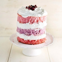 Rose Ombre Layer Cake with Vanilla Whipped Cream Recipe