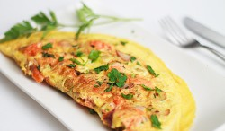 Salmon Omelette with Potatoes