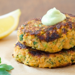 Salmon Sweet Potato and Broccoli Patties Recipe