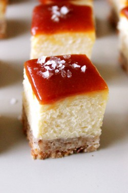Salted Caramel Cheesecake Bars Recipe