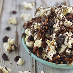 Salted Double Chocolate Cherry Snack Mix Recipe