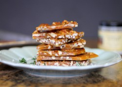 Salted Rosemary Pecan Brittle