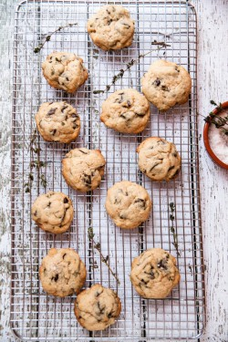 Salted Thyme and Dark Chocolate Chunk Cookies Recipe