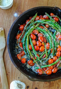 Sautéed Asparagus and Cherry Tomato
