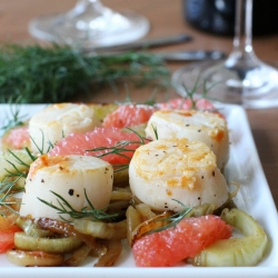 Scallops with Fennel and Grapefruit Recipe