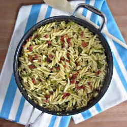 Shaved Brussels Sprout and Prosciutto Fusilli Recipe
