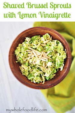 Shaved Brussels Sprouts Salad with Lemon Vinaigrette