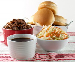 Shredded Beef Sliders with Slaw