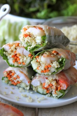 Shrimp and Quinoa Spring Rolls Recipe