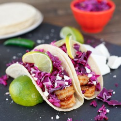Shrimp Tacos with Spicy Apple Cabbage Slaw Recipe