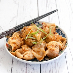 Sichuan Pork Wontons with Chili Oil Sauce Recipe