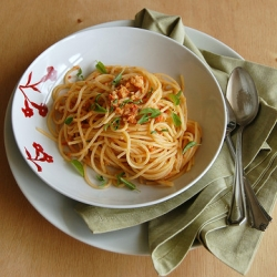Sicilian Pasta with Tomato Garlic and Almonds Recipe