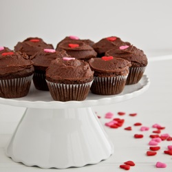 Simple Mini Chocolate Cupcakes