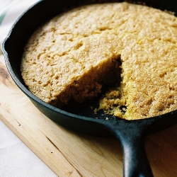 Skillet Cornbread with Honey Butter