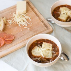 Slowcooker Pizza Soup