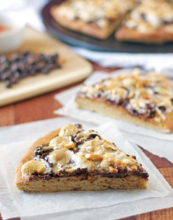 Smores Peanut Butter Pizza