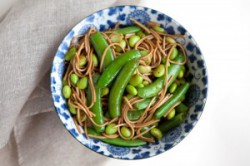 Soba Noodles with Edamame and Snap Peas Recipe