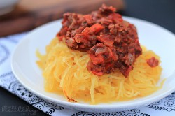 Spaghetti Squash with Bolognese Sauce Recipe