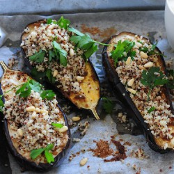 Spiced Baked Eggplant with Yoghurt