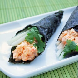 Spicy Shrimp Hand Rolls
