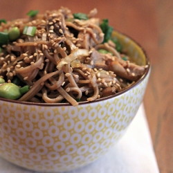Spicy Soba Noodles with Shiitake Mushrooms and Cabbage Recipe