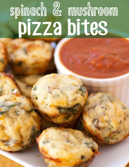 Spinach and Mushroom Pizza Bites Recipe