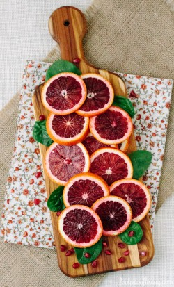 Spinach Salad with Blood Oranges Pomegranate Avocado and Feta Recipe