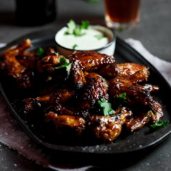 Sticky Chicken Wings with Ranch Dressing Recipe
